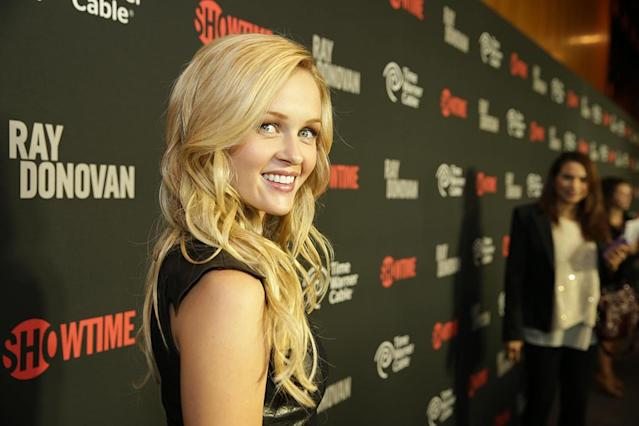 Ambyr Childers arrives at the Showtime premiere of the new drama series Ray Donovan presented by Time Warner Cable, on Tuesday, June, 25, 2013 in Los Angeles. (Photo by Eric Charbonneau/Invision for Showtime/AP Images)