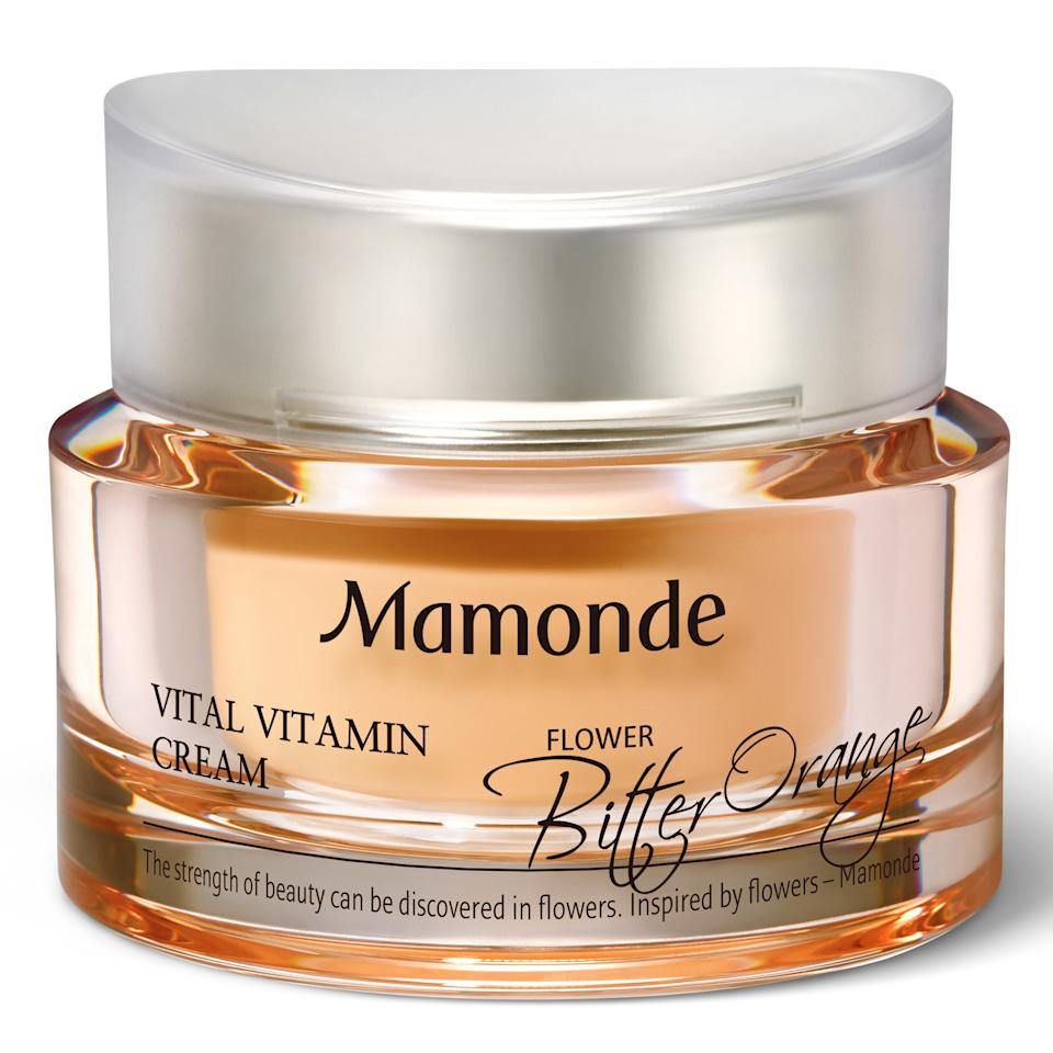 """<p>""""When it's <em>this</em> hot outside, I try to keep the amount of clothes I put on my body and products I put on my face to a minimum. I keep reaching for the Mamonde Vital Vitamin Cream because its lightweight gel texture feels like nothing when I slather it onto my skin. It gives my skin a gorgeous, glass-like glow, and <a href=""""https://www.allure.com/story/vitamin-c-benefits-for-skin?mbid=synd_yahoo_rss"""">it's infused with vitamin C</a> to help it stay radiant for the long run. Plus, it has a floral orange scent that perks me up in the morning."""" — <em>Devon Abelman, digital beauty reporter</em></p> <p><strong>$35</strong> (<a href=""""https://www.ulta.com/vital-vitamin-cream?productId=pimprod2005357&sku=2547295"""" rel=""""nofollow"""">Shop Now</a>)</p>"""