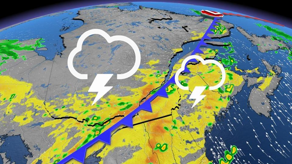 Severe storm risk, searing heat loom for Quebec this weekend