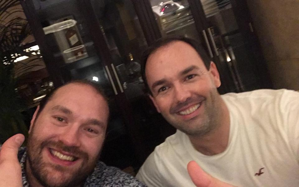 Daniel Kinahan, right, with Tyson Fury - Twitter