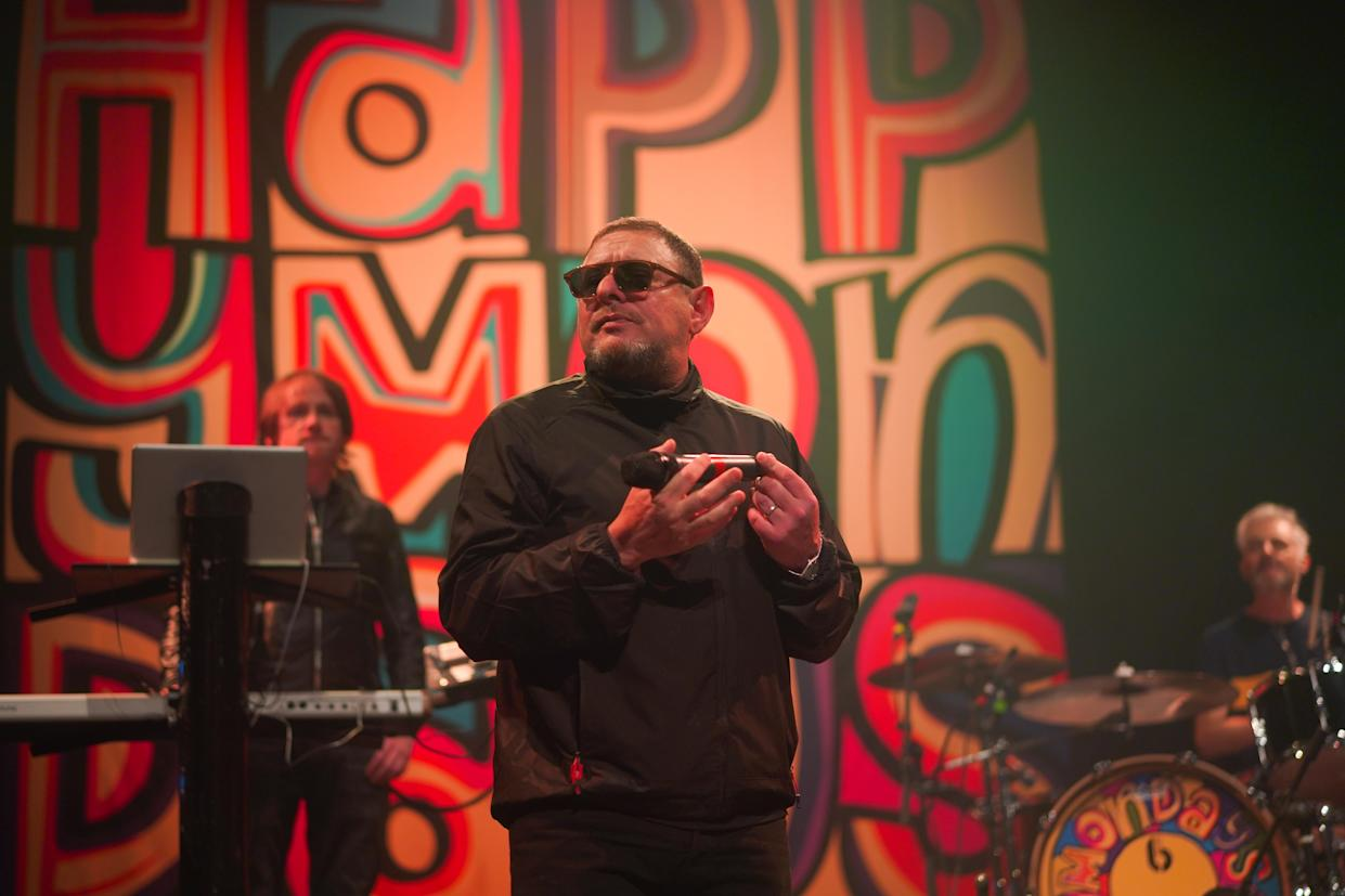 Shaun Ryder of The Happy Mondays performing live on stage at The Roundhouse in London. Photo date: Thursday, November 16, 2017. Photo credit should read: Richard Gray/EMPICS Entertainment