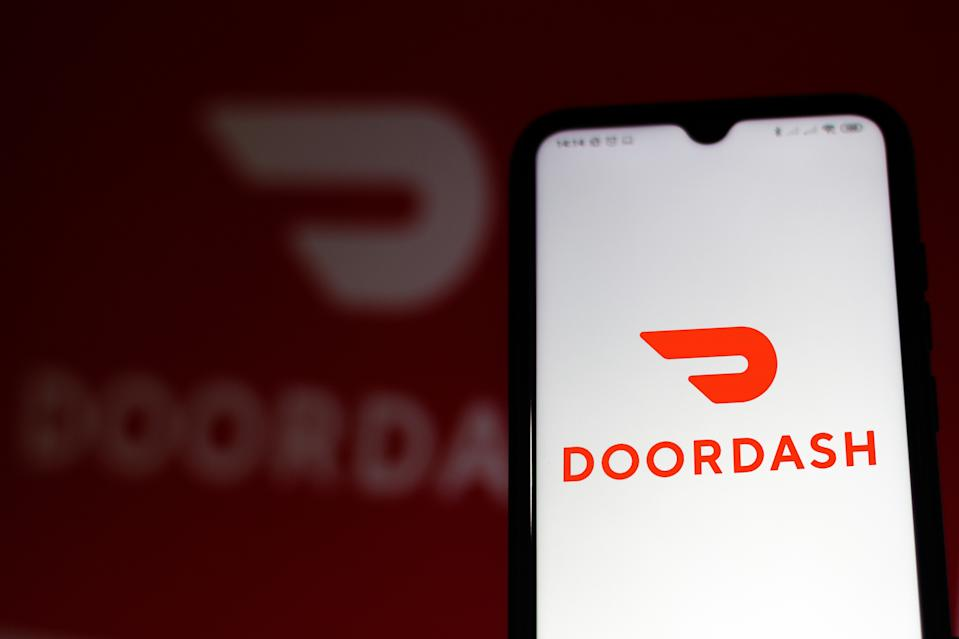 BRAZIL - 2020/07/07: In this photo illustration the DoorDash logo seen displayed on a smartphone. (Photo Illustration by Rafael Henrique/SOPA Images/LightRocket via Getty Images)