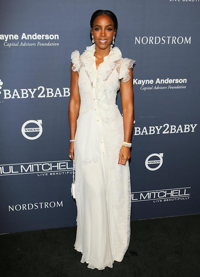 Kelly Rowland at the 2017 Baby2Baby Gala in Culver City, Calif. (Photo: Getty Images)