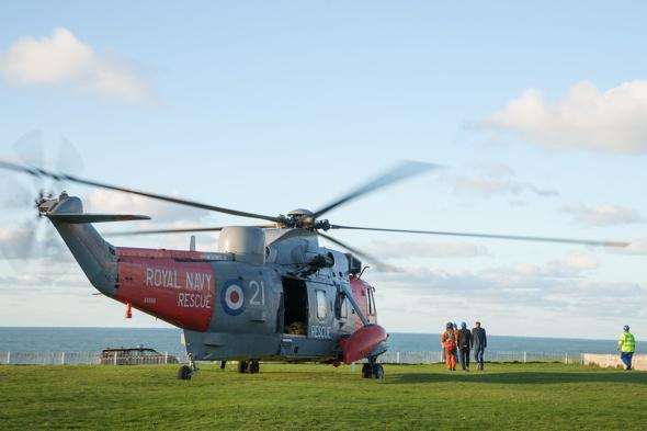 Dramatic rescue of three tourists stuck on rock in Cornwall