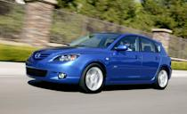 """<p>There's an old saying that the best new cars make the best used cars, and this has been one of the best compacts for most of the past decade. The <a href=""""https://www.caranddriver.com/mazda/mazda-3"""" rel=""""nofollow noopener"""" target=""""_blank"""" data-ylk=""""slk:Mazda 3"""" class=""""link rapid-noclick-resp"""">Mazda 3</a>, which has always been available as a small sedan or hatchback, is not only safe, fuel efficient, and reliable, it's also a hoot to drive, with sharp handling, good power, and a fun, sporty disposition. These cars are also spacious for their size and have stylish, high-quality interiors. Prices start as low as $5000 for models from 2011 to 2013, but it's best to spend a little more if you can and get a 2014 or newer Mazda 3, which have higher safety ratings. They look better too and offer more interior space. They're so good that from 2014 to 2017 we selected the <a href=""""https://www.caranddriver.com/features/a15098329/mazda-3-and-volkswagen-golf-alltrack-gti-r-2017-10best-cars-feature/"""" rel=""""nofollow noopener"""" target=""""_blank"""" data-ylk=""""slk:Mazda 3 for our 10Best Cars list"""" class=""""link rapid-noclick-resp"""">Mazda 3 for our 10Best Cars list</a>.<br></p>"""