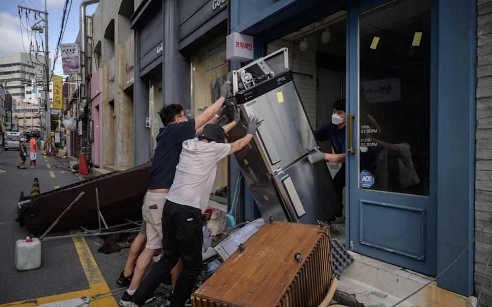 Must of the region is still recovering from Typhoon Bavi - GETTY IMAGES