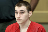 FILE - In this Dec. 10, 2019, file photo, Parkland school shooting defendant Nikolas Cruz appears at a hearing in Fort Lauderdale, Fla. Cruz is accused of killing 17 people at Marjory Stoneman Dougla High School. It's been more than 1,000 days since the attack. And yet, with Valentine's Day on Sunday, Feb. 14, 2021, marking the three-year milestone, Cruz's death penalty trial is in limbo. (Amy Beth Bennett/South Florida Sun Sentinel via AP, Pool, File)