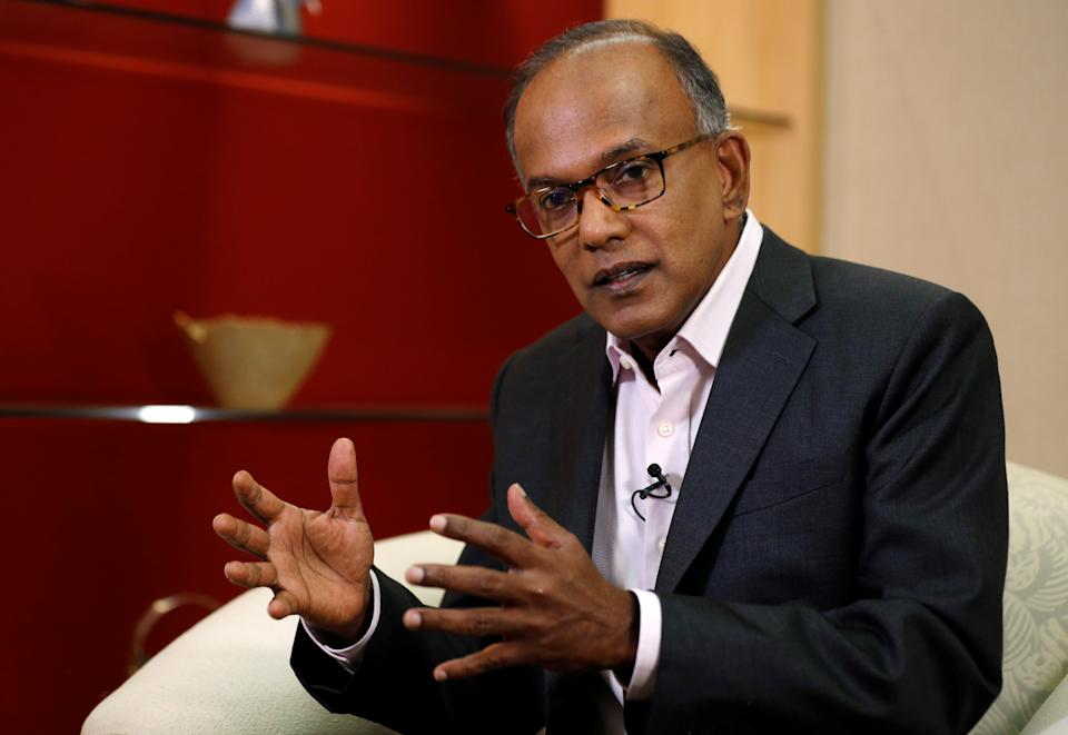 Singapore's Law Minister K. Shanmugam speaks to Reuters in Singapore 31 July 2019.  REUTERS/Edgar Su