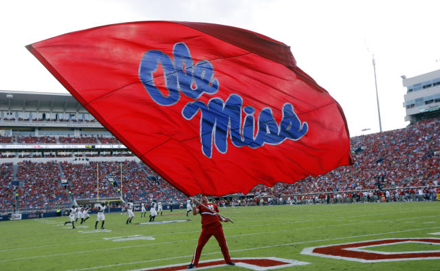 Mississippi's football program has been handed a two-year postseason ban and other penalties by the NCAA. The NCAA came down hard on Ole Miss for its long-running rules violation case that included a charge of lack of institutional control. (AP)