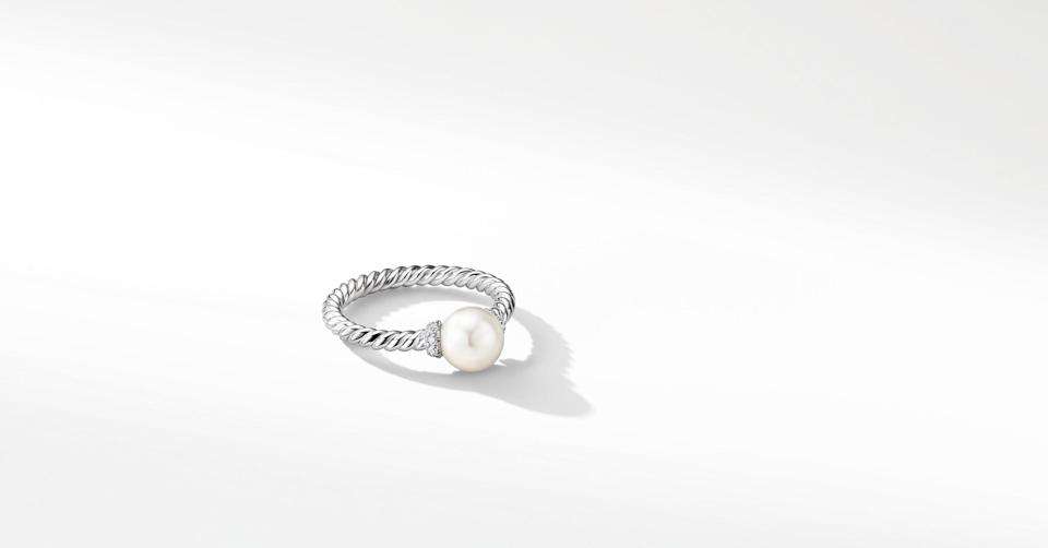 "<br><br><strong>David Yurman</strong> Solari Station Ring in 18K White Gold with Cultured Pearl and Diamonds, $, available at <a href=""https://go.skimresources.com/?id=30283X879131&url=https%3A%2F%2Fwww.davidyurman.com%2Fproducts%2Fwomens%2Fwomens-rings%2Fsolari-station-ring-with-pearl-and-diamonds-in-18k-white-gold--r.pdp.html"" rel=""nofollow noopener"" target=""_blank"" data-ylk=""slk:David Yurman"" class=""link rapid-noclick-resp"">David Yurman</a>"