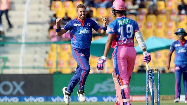 Delhi bowlers kept picking wickets at regular intervals of time. Anrich Nortje was at his best on Saturday with his figures reading 2/18 in four overs. Sportzpics