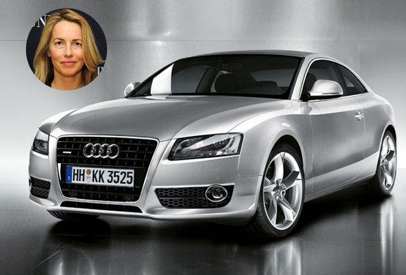 Laurene Powell Jobs, widow of the legendary Apple founder Steve, drives a silver Audi A5 that's often seen parked outside the family's home in Palo Alto. As a billionaire, she can easily afford the $37,000 starting price. information via truecar.com and celebritycar.weebly.com.