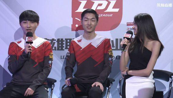 Team WE's mid and jungle Condi and xiye (lolesports)