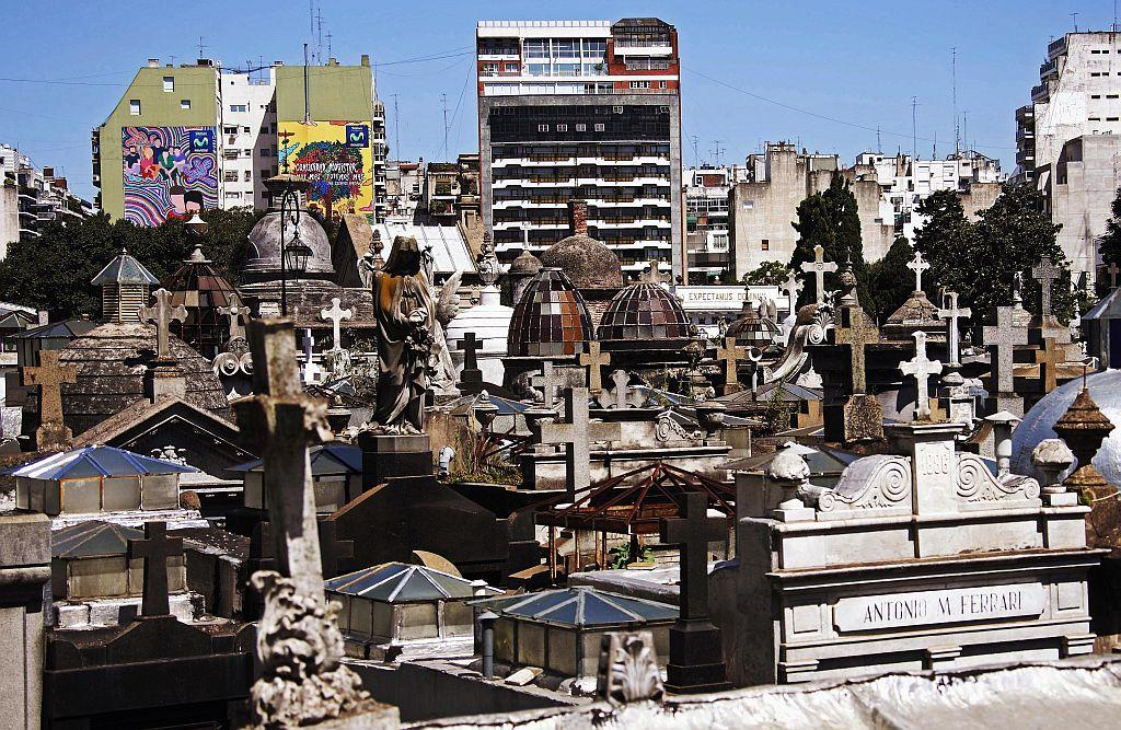 Another view of the famous cemetery La Recoleta in Buenos Aires.