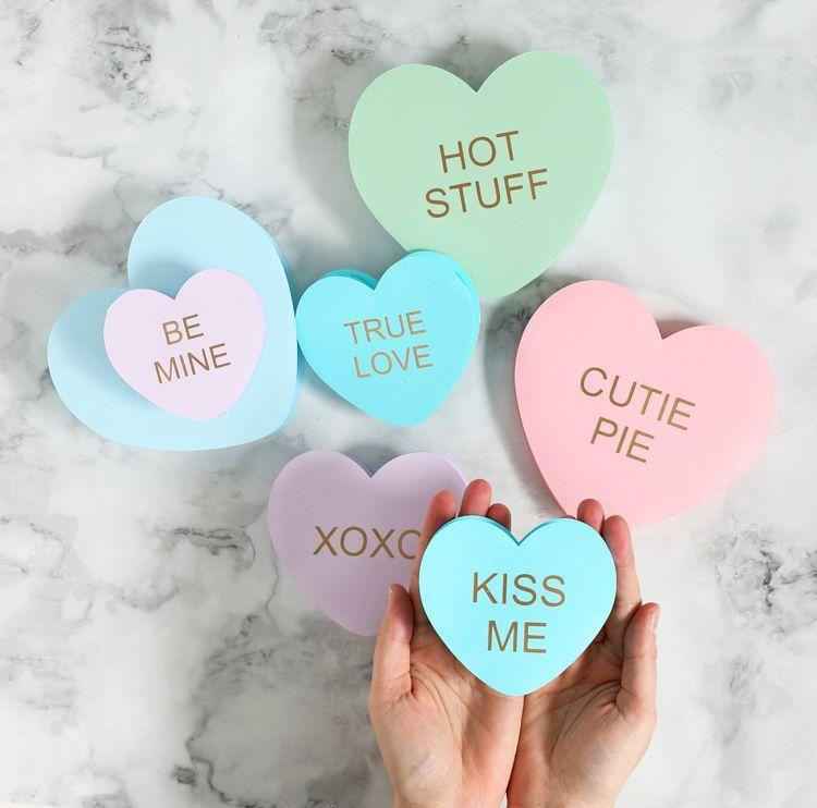 "<p>Share your true feelings with these 3D conversation heart Valentines. Their larger size means the object of your affection can also put them on display in their home for some festive Valentine's Day decora. </p><p><strong>See more at <a href=""https://www.thecraftpatchblog.com/3d-paper-conversation-hearts/"" rel=""nofollow noopener"" target=""_blank"" data-ylk=""slk:The Craft Patch"" class=""link rapid-noclick-resp"">The Craft Patch</a>. </strong></p><p><a class=""link rapid-noclick-resp"" href=""https://go.redirectingat.com?id=74968X1596630&url=https%3A%2F%2Fwww.walmart.com%2Fip%2FCricut-Joy-Transfer-Tape-5-5-x-48-Transfer-Tape-for-Vinyl-and-Adhesive-decals%2F415072294&sref=https%3A%2F%2Fwww.thepioneerwoman.com%2Fhome-lifestyle%2Fcrafts-diy%2Fg35084525%2Fdiy-valentines-day-cards%2F"" rel=""nofollow noopener"" target=""_blank"" data-ylk=""slk:SHOP TRANSFER TAPE"">SHOP TRANSFER TAPE</a></p>"