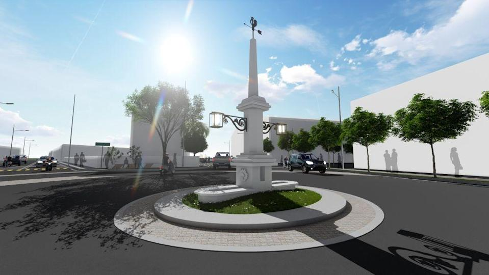 An artist's impression of the completed restoration of the monument in Balik Pulau. — Picture courtesy of the Penang Island City Council