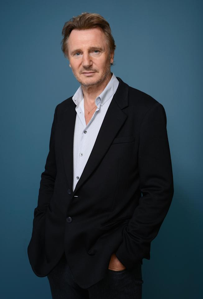 TORONTO, ON - SEPTEMBER 10: Actor Liam Neeson of 'Third Person' poses at the Guess Portrait Studio during 2013 Toronto International Film Festival on September 10, 2013 in Toronto, Canada. (Photo by Larry Busacca/Getty Images)