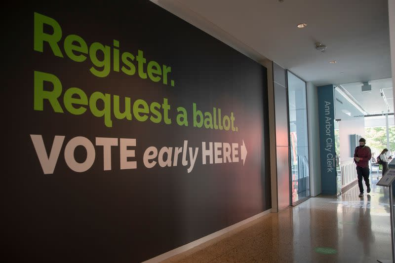 FILE PHOTO: Early voting begins in Michigan