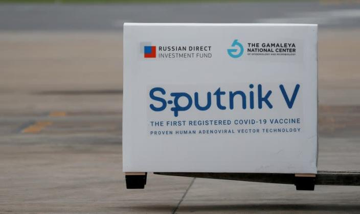 FILE PHOTO: A shipment of doses of the Sputnik V vaccine arrives in Buenos Aires
