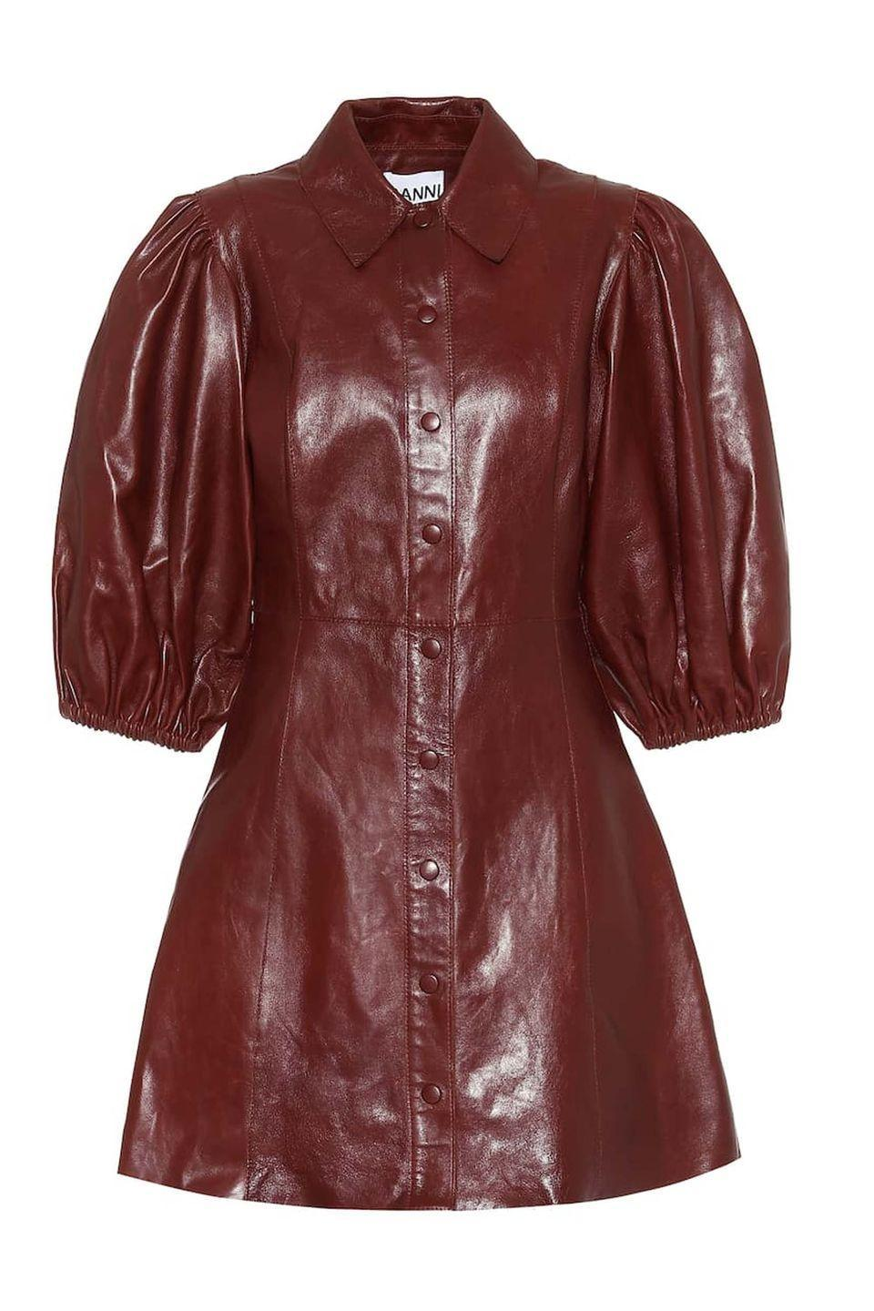 """<p><a class=""""link rapid-noclick-resp"""" href=""""https://go.redirectingat.com?id=127X1599956&url=https%3A%2F%2Fwww.mytheresa.com%2Fen-gb%2Fganni-leather-minidress-1479789.html&sref=https%3A%2F%2Fwww.harpersbazaar.com%2Fuk%2Ffashion%2Ffashion-news%2Fg34504089%2Fhottest-products-2020%2F"""" rel=""""nofollow noopener"""" target=""""_blank"""" data-ylk=""""slk:SHOP NOW"""">SHOP NOW</a></p><p>As one of the most popular contemporary labels in the world, it is no surprise to find Ganni on this list. The Scandi brand's balloon-sleeved leather dress was a particular hit this season, taking the sixth spot.</p><p>Dress, £367, <a href=""""https://go.redirectingat.com?id=127X1599956&url=https%3A%2F%2Fwww.mytheresa.com%2Fen-gb%2Fganni-leather-minidress-1479789.html&sref=https%3A%2F%2Fwww.harpersbazaar.com%2Fuk%2Ffashion%2Ffashion-news%2Fg34504089%2Fhottest-products-2020%2F"""" rel=""""nofollow noopener"""" target=""""_blank"""" data-ylk=""""slk:Ganni"""" class=""""link rapid-noclick-resp"""">Ganni</a></p>"""