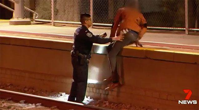 Police quickly rushed to the scene to remove the youths. Photo: 7 News