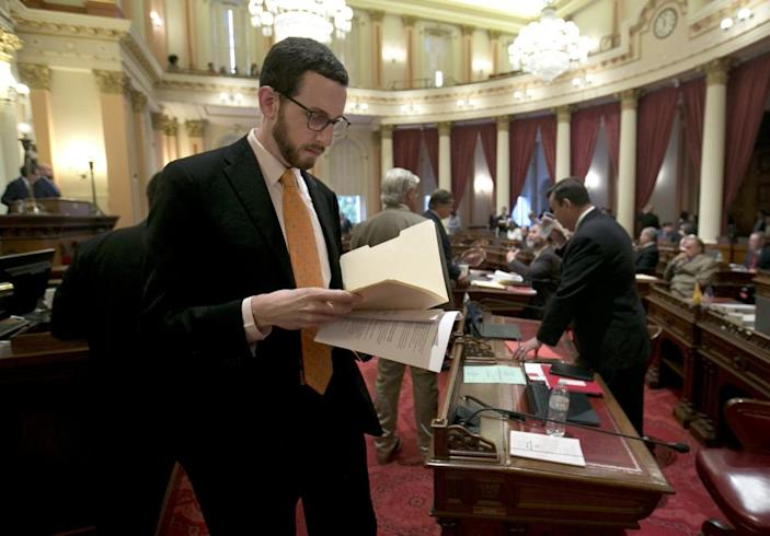 "<span class=""element-image__caption"">Scott Wiener faced vicious antisemitic and homophobic attacks over the bill.</span> <span class=""element-image__credit"">Photograph: Rich Pedroncelli/AP</span>"