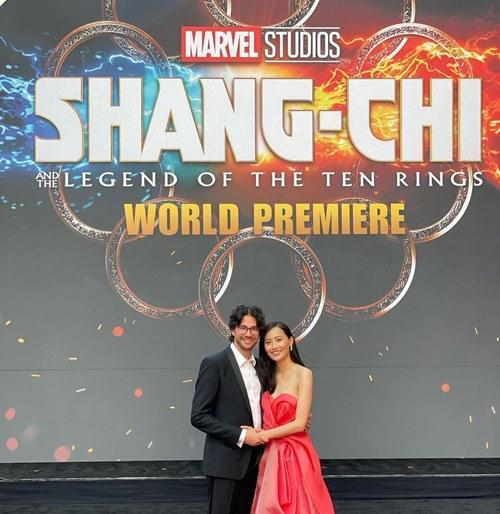 The beautiful couple at the premiere of 'Shang-Chi and the Legend of the Ten Rings'