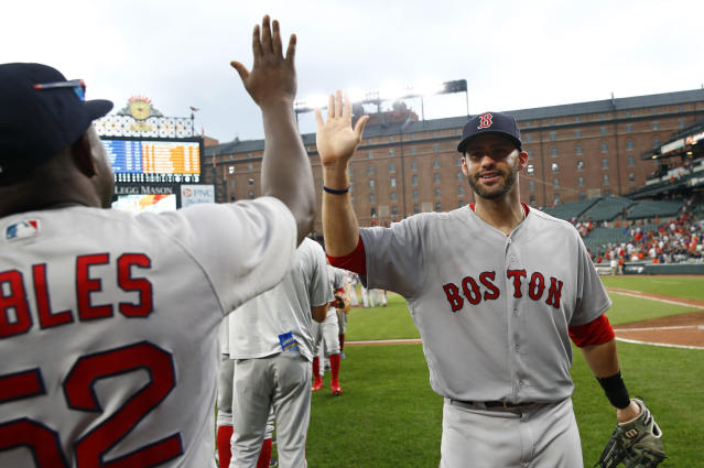 The Red Sox are finally the 2018 World Series favorite according to one oddsmaker. (AP Photo)