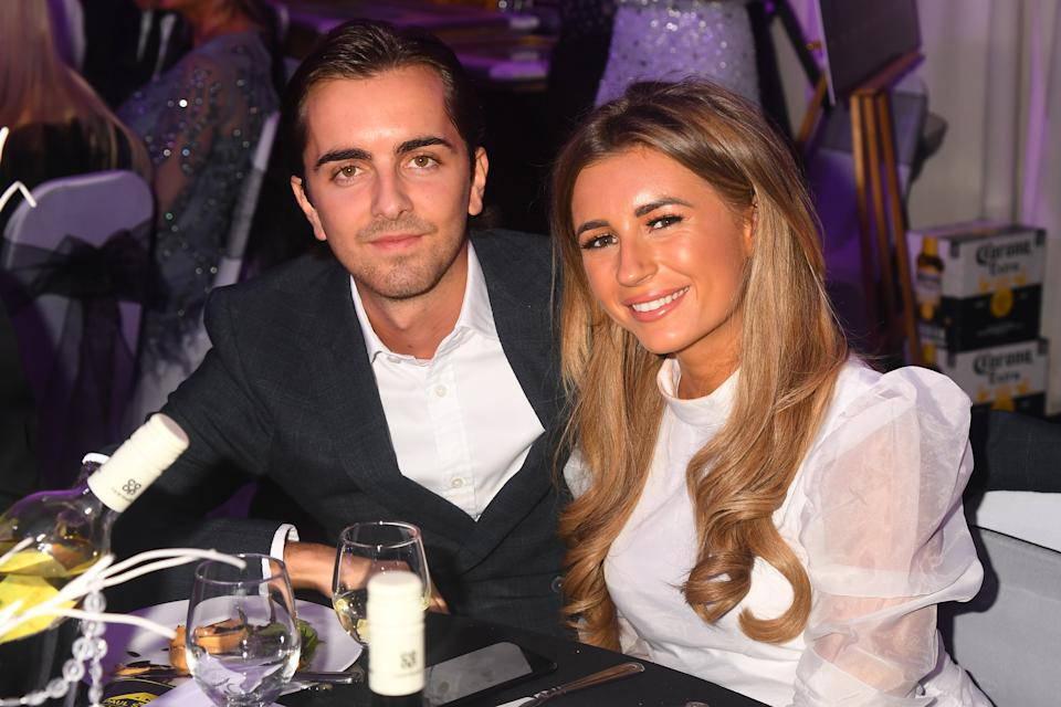 LONDON, ENGLAND - SEPTEMBER 21:  Sammy Kimmence and Dani Dyer during the Paul Strank Charity Gala at the Bank of England Sports Centre on September 21, 2019 in London, England. (Photo by Dave J Hogan/Getty Images)