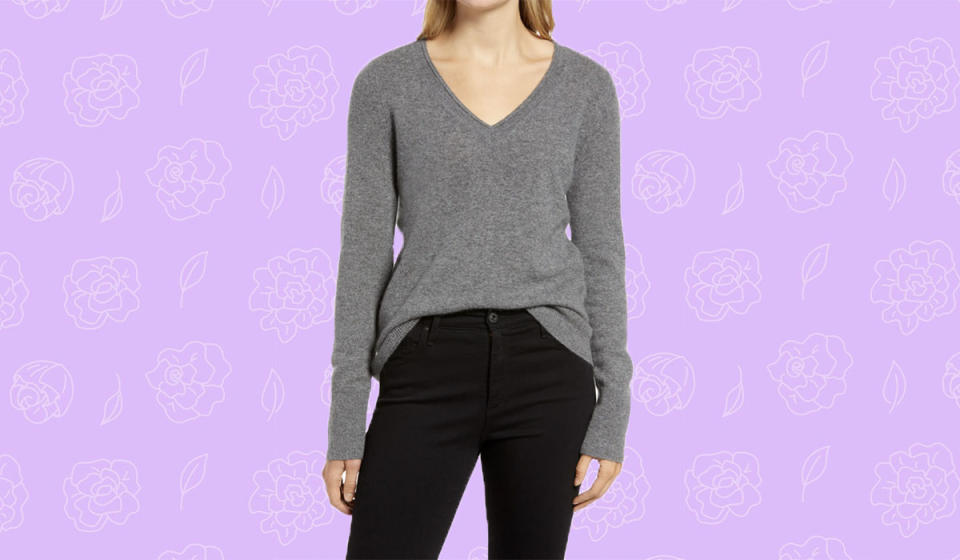 Cashmere for 49 bucks? Yes please! (Photo: Nordstrom)