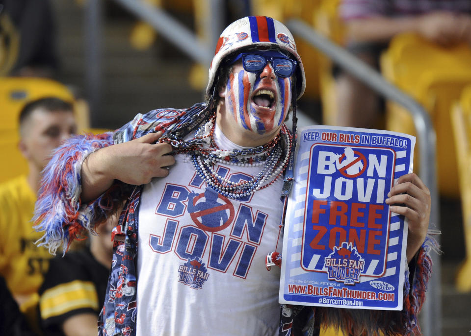 Buffalo Bills were reasonably close to rooting for a team owned by Donald Trump. (AP Photo/Don Wright, File)