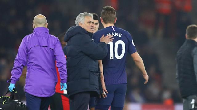 Harry Kane and Tanguy Ndombele were both injured on a tough New Year's Day for Tottenham and head coach Jose Mourinho.