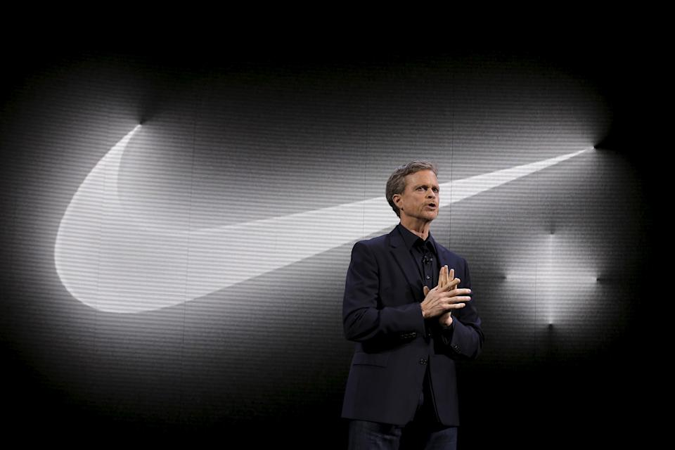 Nike CEO Mark Parker speaks during a launch event in New York March 16, 2016. REUTERS/Brendan McDermid