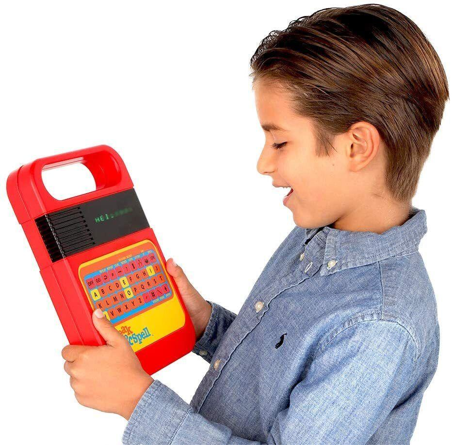 """Itcan only be described as a retro-tablet from the '80s for teaching kids how to spell. The best part is the old school speech synthesizer that's been used in quite a few song samples (looking at you, Beck!).Includes three AA batteries.<br /><br /><strong>Promising review:</strong>""""We bought this for our 2-and-a-half-year-old but my husband and I play with it more. We had the original version growing up. This version seems way lighter than my old one from the '80s. We love it!"""" --<a href=""""https://www.amazon.com/dp/B07PQT8DMB?tag=huffpost-bfsyndication-20&ascsubtag=5764152%2C33%2C40%2Cd%2C0%2C0%2C0%2C962%3A1%3B901%3A2%3B900%3A2%3B974%3A3%3B975%3A2%3B982%3A2%2C16002312%2C0"""" target=""""_blank"""" rel=""""noopener noreferrer"""">Lana21</a><br /><br /><strong>Get it from Amazon for <a href=""""https://www.amazon.com/dp/B07PQT8DMB?tag=huffpost-bfsyndication-20&ascsubtag=5764152%2C33%2C40%2Cd%2C0%2C0%2C0%2C962%3A1%3B901%3A2%3B900%3A2%3B974%3A3%3B975%3A2%3B982%3A2%2C16002312%2C0"""" target=""""_blank"""" rel=""""noopener noreferrer"""">$20.88</a>.</strong>"""