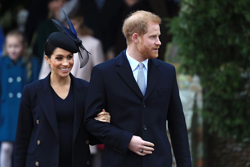 Prince Harry and Meghan Markle at Christmas