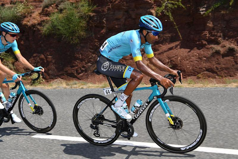 BEZIERS FRANCE AUGUST 01 Merhawi Kudus Ghebremedhin of Eritrea of Colombia and Astana Pro Team during the 44th La Route dOccitanie La Depeche du Midi 2020 Stage 1 a 187km stage from Saint Affrique to Cazouls ls Bziers RouteOccitanie RDO2020 on August 01 2020 in Beziers France Photo by Justin SetterfieldGetty Images