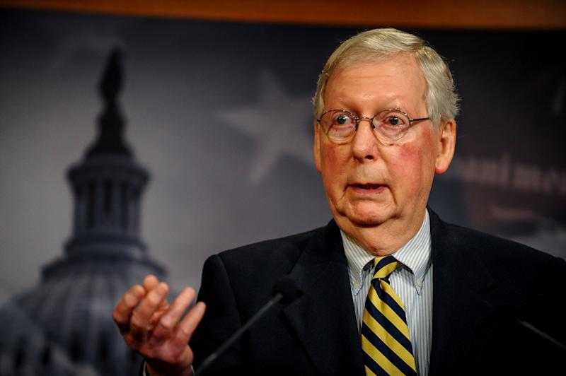 Mitch McConnell addresses the media in Washington, DC: REUTERS