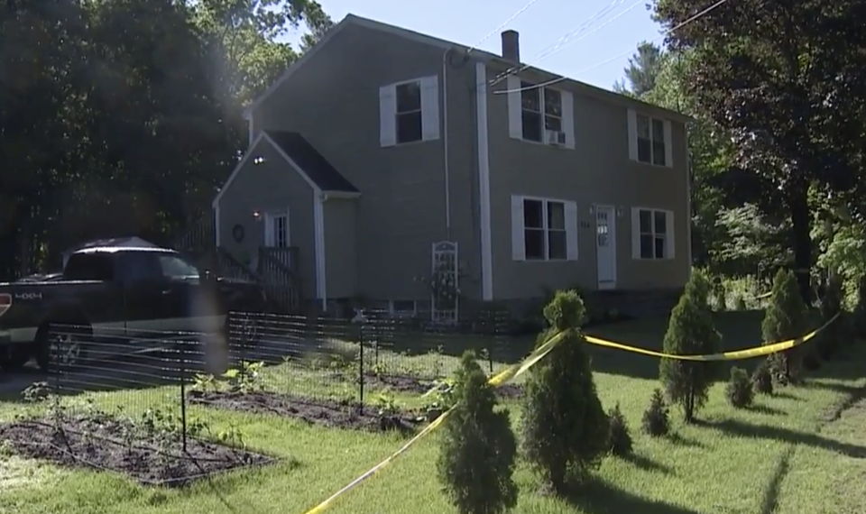 An exterior of the Oxford home where three children survived a tragic murder-suicide.