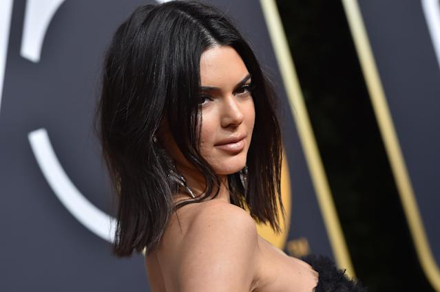 Kendall Jenner was skin-shamed at the Golden Globes earlier this year. (Photo: Getty)