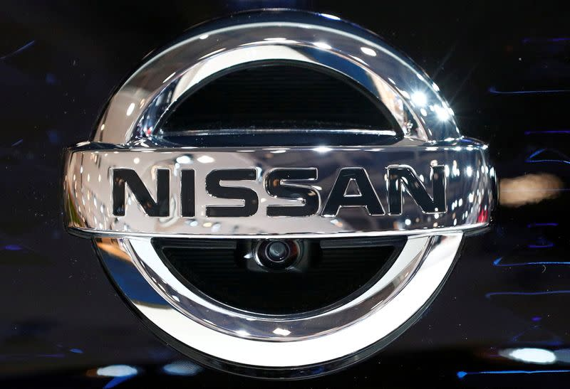 FILE PHOTO: FILE PHOTO: A Nissan logo is pictured at Brussels Motor Show