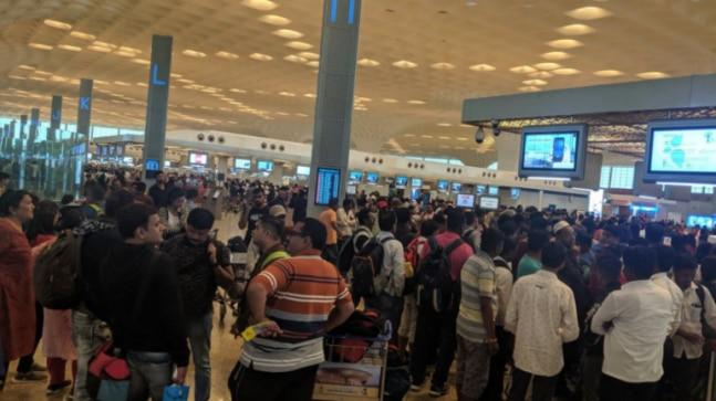 In the absence of main runway, the secondary runway was in operations forcing the airport to run at half the capacity. While Tuesday saw more than 200 flight cancellations, by Wednesday noon there were reports of cancellations of 40 arrivals and 35 departures.