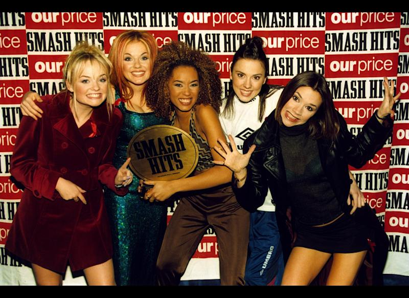 <strong>1996</strong> The Spice Girls at the Smash Hits Poll Winners Party