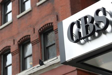 FILE PHOTO: The CBS broadcasting logo is seen outside the CBS Broadcast Center in Manhattan