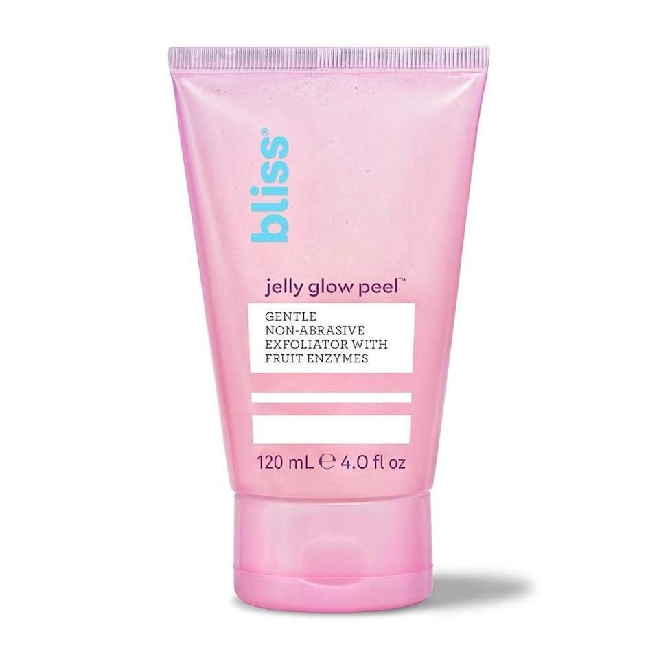 Tiny plant-based fibers in this Bliss Jelly Glow Peel act, as the brand describes, like micro-lint rollers to catch and sweep away flaky, dry skin. There are also pineapple and papaya enzymes, which exfoliate from beneath the skin's surface. Niacinamide brightens while a trio of moisturizers — including hyaluronic acid, coconut fruit extract, and pro-vitamin B5 — hydrate skin. The gel is basically a one-step glow-up in a tube.