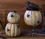 "<p>Try layering old newspaper on your pumpkin with <a href=""https://www.michaels.com/mod-podge-matte/M10047539.html"" rel=""nofollow noopener"" target=""_blank"" data-ylk=""slk:Mod Podge"" class=""link rapid-noclick-resp"">Mod Podge</a>. Once it dries, line the ridges with a black Sharpie, and glue on some spooky plastic spiders. <i>(Photo: <a href=""http://dakotacreekchic.com/pumpkin-decorating-ideas-for-halloween/"" rel=""nofollow noopener"" target=""_blank"" data-ylk=""slk:dakotacreekchic"" class=""link rapid-noclick-resp"">dakotacreekchic</a>)</i></p>"
