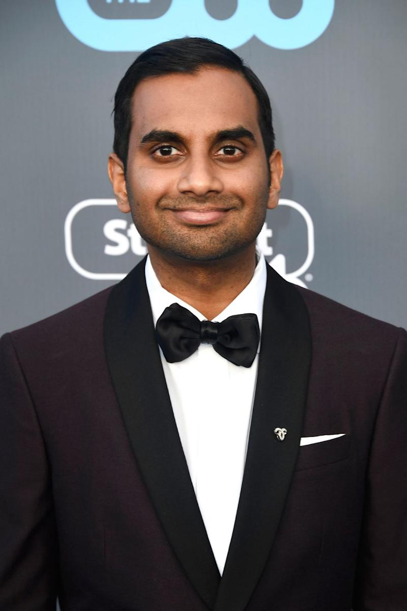 The anonymous woman made her discomfort known to Ansari in a text message she sent him after their date. The comedian is pictured here at the Critics' Choice Awards. Source: Getty