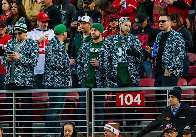 The Jets are not exactly a buffet of fantasy talent, but the team's fans are pure style. (Photo by Samuel Stringer/Icon Sportswire via Getty Images)