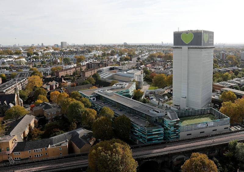<strong>The Grenfell Tower in London pictured in October of last year.</strong> (Photo: ASSOCIATED PRESS)