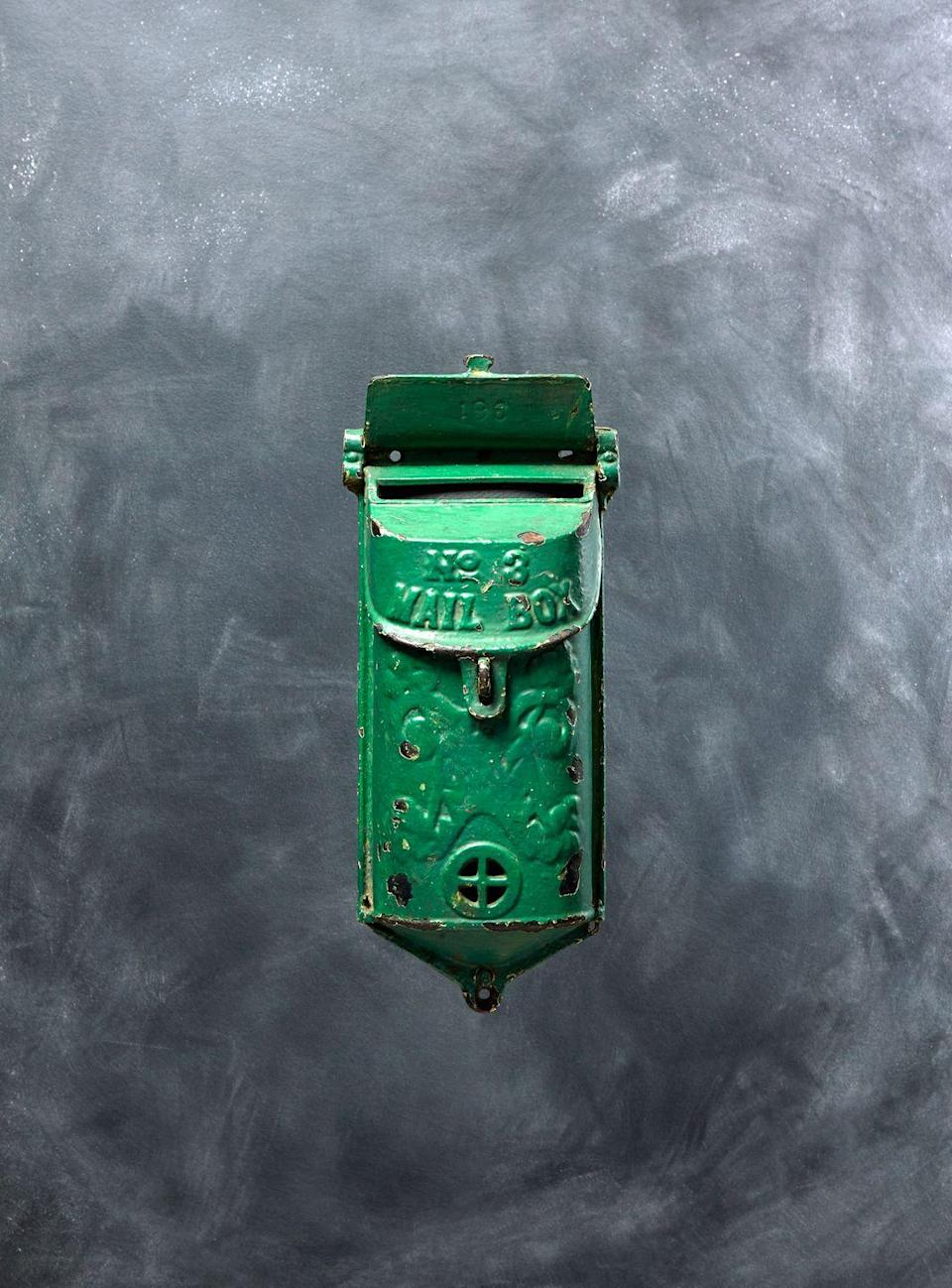 <p>Early-20th-century mailboxes carry cachet, especially if they, like this one, are produced by Griswold, one of the most sought-after makers of cast iron. In operation from 1865 until 1957, the company specialized in cookware, but ardent cast-iron collectors are interested in all forms. This No. 3 mailbox from 1910 is no exception. Unpainted examples are valued at $350; because this one bears an unoriginal, though eye-catching, green paint job, its value is considerably less, says Marsha Dixey of Heritage Auctions. </p><p><strong>What it's worth:</strong> up to $350</p>