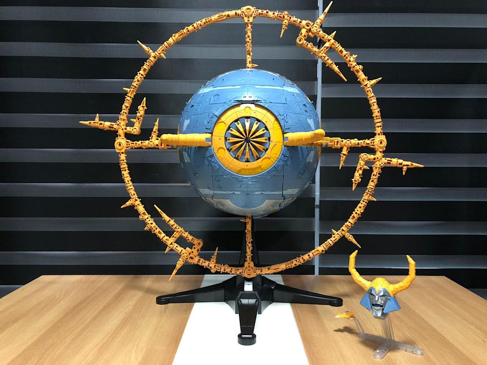 Unicron in planet mode.